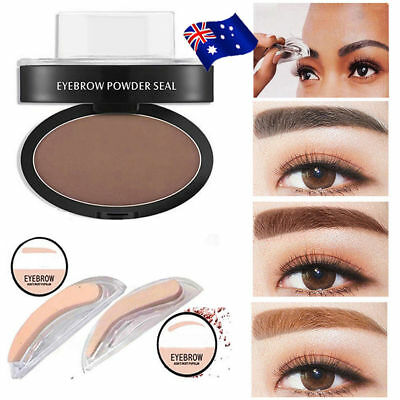 EYEBROW STAMP Powder Palette Natural Definition Brow Makeup Cosmetic Brown JO