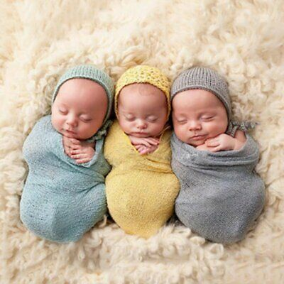CO/_ FT GC Crochet Knitted Cocoon Newborn Baby Photography Prop Backdrop Access
