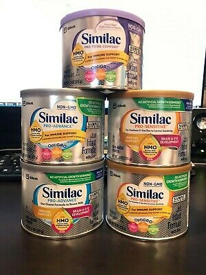 Similac Pro Total Comfort, Advance, and Sensitive, 7.6 oz, Lot of 5 Can Ex. 2020