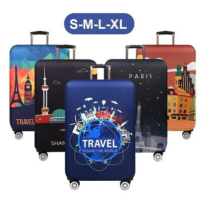 "18-32"" Elastic Travel Protective Luggage Cover Suitcase Dustproof Protector Case"