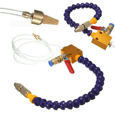 Mist Coolant Lubrication Spray System for 8mm Air Pipe Lathe Mill Drill Cooling