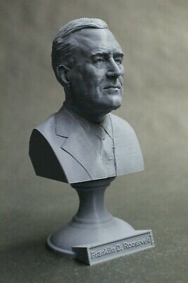 picture relating to Free 3d Printable D&d Miniatures known as FRANKLIN D ROOSEVELT (FDR) 5 inch 3D Published Bust United states of america President 32 Artwork Totally free Send
