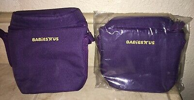Lot of 2 BabiesRus Especially for Baby Purple Bottle Insulated Cooler Bags NEW