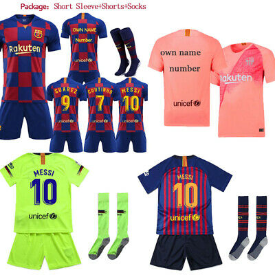 18/19/20 Football Kits Soccer Suits Training Shirts Shorts Socks For Kids 3-14Y
