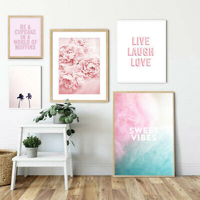 Peony Flower Nordic Canvas Fashion Poster Indie Pop Style Wall Art Print Picture