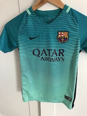 Nike Barcelona Qatar Airways Third Kit For Boys Size Small 8 To 10 Years