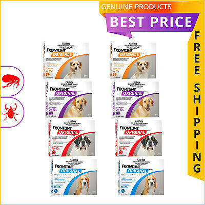 FRONTLINE ORIGINAL All Sizes for Dogs 8 Doses Flea and Tick Treatment by Merial