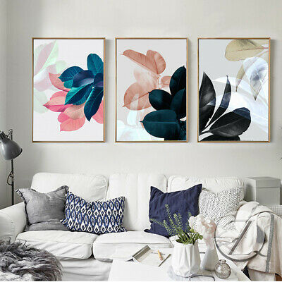 Scandinavian Picture Tropical plant Poster Nordic Style Wall Art Botanical Print
