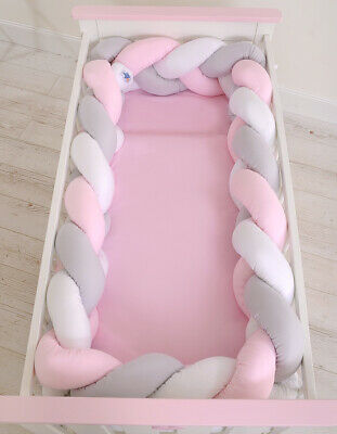 Nursery All Round  BUMPER XXL (KNOT) approx. 360cmcm long to fit Cot (120/60cm)