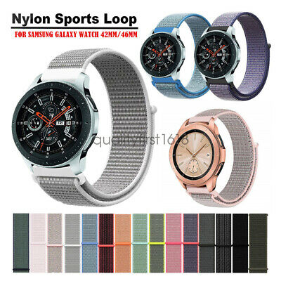 Cinturino Woven Nylon Loop Watch Band Strap per Samsung Galaxy Watch 42mm 46mm