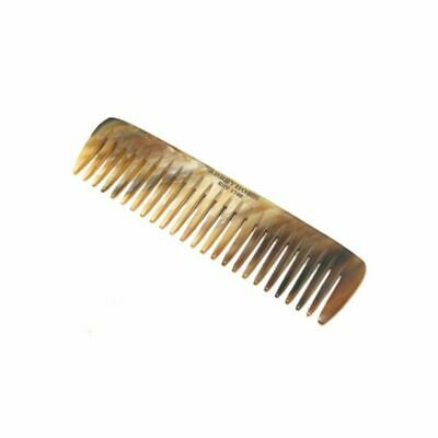 Abbeyhorn Hand Crafted Natural Horn Pocket Beard Comb 90mm