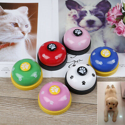 Cute Pet training bell dog toys Puppy Pet Call Dog paw print ringer pet suppliHD