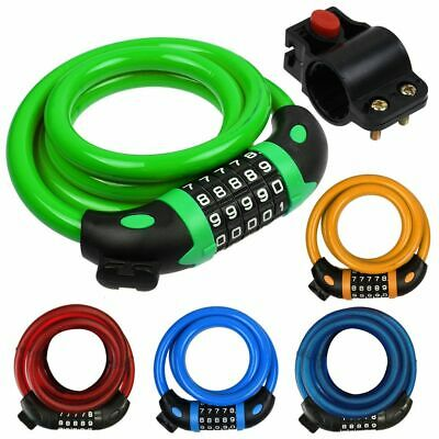 Cycling Security 5 Digit Combination Password Bike Bicycle Steel Wire Chain Lock