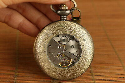 Noble gift unque chinese copper mechanical movement mechanical watch art