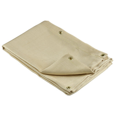 Neiko 10908A Fiberglass Welding Blanket and Cover, 4' x 6' | Brass Grommets For