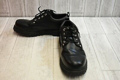 36298b3471 SKECHERS MENS 8.5 Oxford Shoes Alley Cats Black Leather Work Casual ...