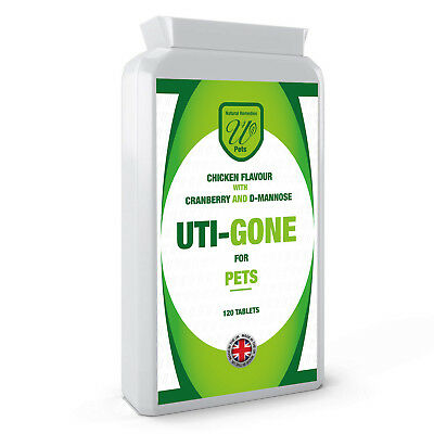 Uti Gone - Kidney Bladder Infection Health Pet Dogs Cats - D-Mannose 120 Tablets