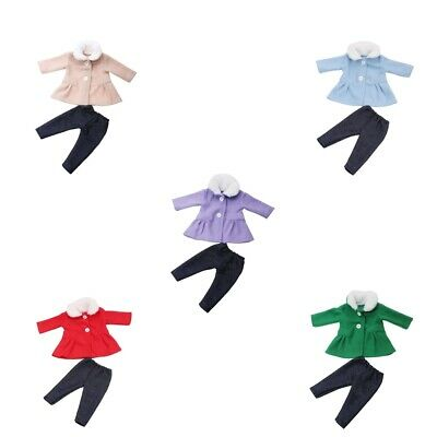 Baby Doll Accessories Trench Coat & Trousers Set for 18inch American Dolls