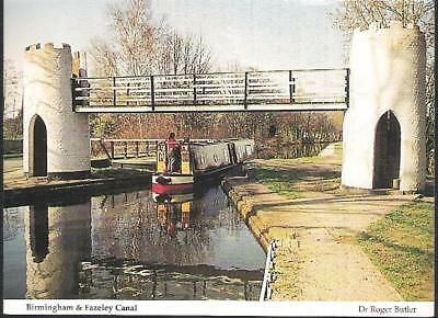 Drayton Manor, Staffordshire - footbridge on Birmingham & Fazeley Canal c.1980s
