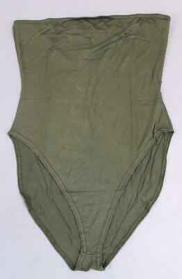 97b573521801 Boohoo Women's Tall Basic Solid Stretch Bandeau Bodysuit MC7 Khaki Size ...