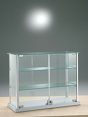RETAIL SHOP  GLASS COUNTER TOP JEWELLERY  DISPLAY CABINET  65w x 25 d x 50h . cm