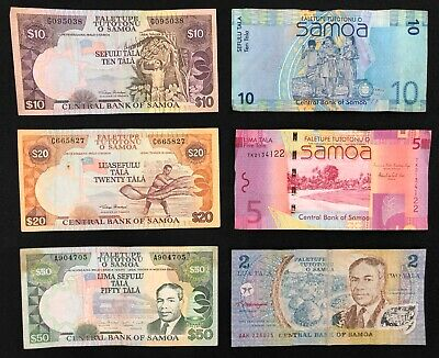 6 x SAMOA Banknote Collection. (2837)