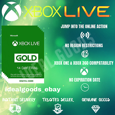 Xbox Live Gold 14 Day Trial Membership (Global)