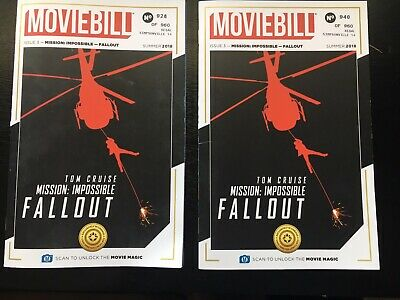 Mission Impossible #d Collectible Fallout Movie Bill Regal IMAX Ticket Moviebill