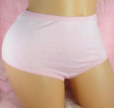 VTG Deadstock NWOT Baby Pink 100% Cotton Sissy High Cut Briefs Panties sz 5