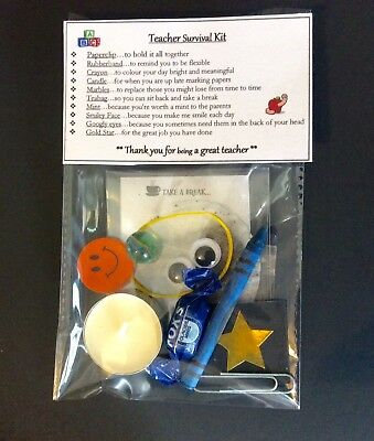 Teacher Survival Kit Thank You Gift Leaving School Christmas End of Term Gif