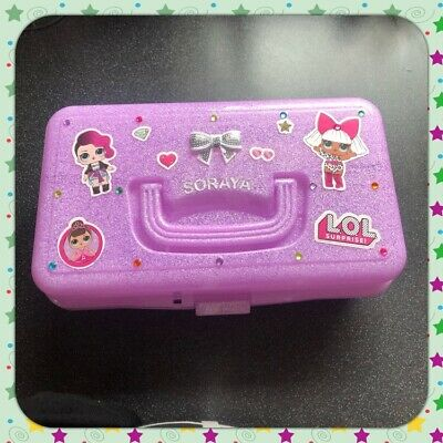 💕New Personalised Baby Pink LOL Surprise Doll Glitter Storage Box 💕