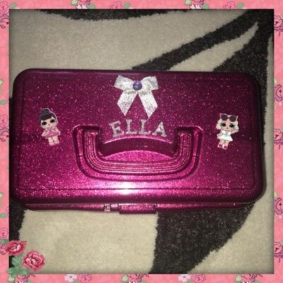 💕New Personalised LOL Surprise Doll Pink Glitter Storage Box - Case 💕