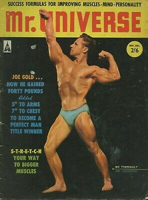 Rare UK Vintage Bodybuilding Mr Universe Vol 2 No 3 Ed Theriault *Better Qlty*