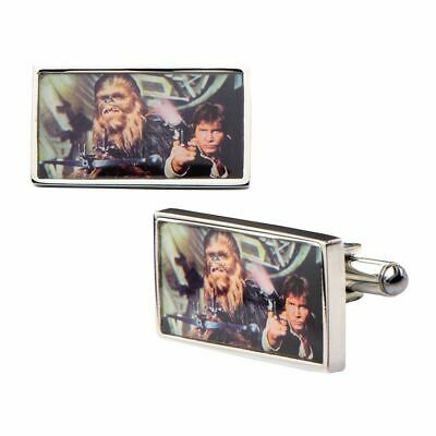 Star Wars Han Solo and Chewbacca Shirt Cufflinks - Boxed Wedding Designer Chewy