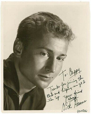 """Nick """"The Rebel"""" Adams - Inscribed Photograph Double Signed"""