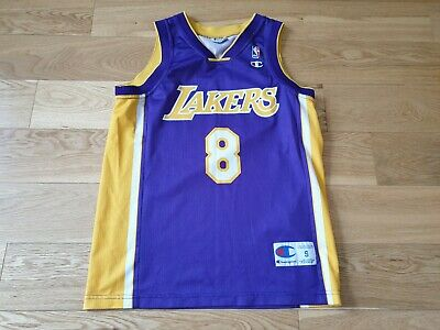 698bda82b25 Mens Champion NBA Los Angeles Lakers BRYANT #8 basketball jersey shirt Size  S