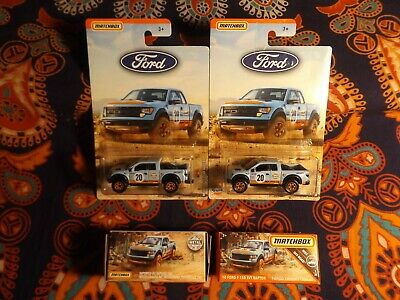 2018-19 Matchbox 2 Power Grabs 2 Exclusive '10 FORD F-150 SVT RAPTOR GULF RACING