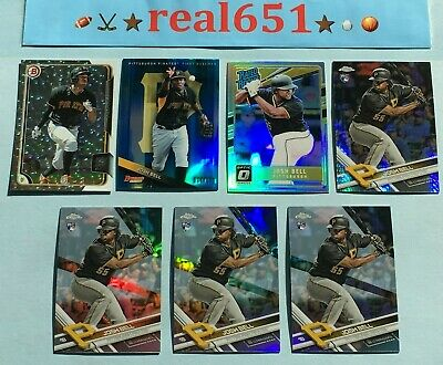 2015~17 JOSH BELL Rookie Refractor-SP Lot x 7 RC Blue /150 Silver Ice   Pirates