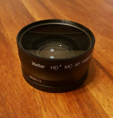 Vivitar HD4 MC AF High Definition 0.43x Wide Angle Camera Lens