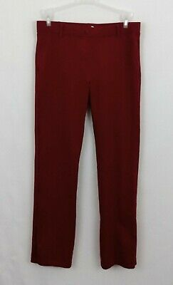 4c2a3e8258 Betabrand Straight Leg Dress Pant Yoga Pant Red Clay Womens Large Stretch  EUC