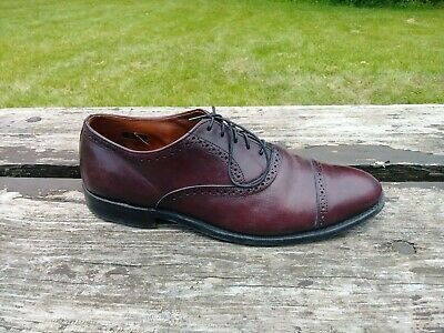 8b58c088de79e Allen Edmonds Van Ness Men's 10.5 D Burgundy Calf Leather Cap Toe Oxford  Dress.