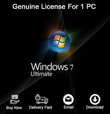 Windows 7 Ultimate 32/64 BIT Product Activation For 1 PC Genuine
