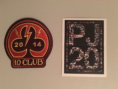 Pearl Jam 10 Ten Club 2014 Patch And PJ20 Sticker - NEW