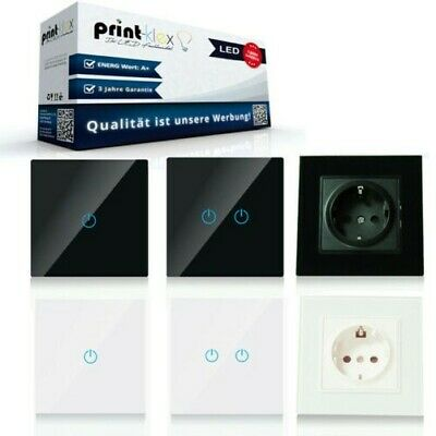 Glass Touch Light Switch Touchscreen Wall Switch Socket Toggle Switch WLAN