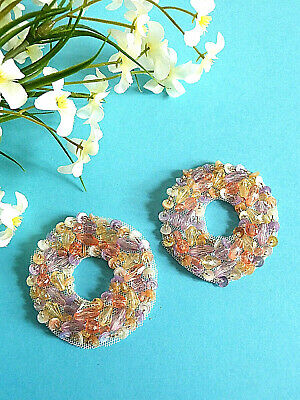"""048 # Tolle Applikationen """"Kaleidoscope 'Perle Sequin Shabby Chic Vintage"""