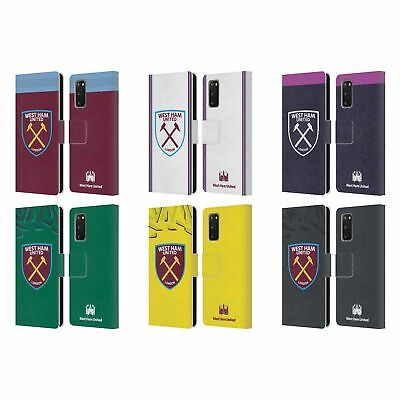 West Ham United Fc 2019/20 Crest Kit Leather Book Case For Samsung Phones 1