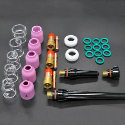31* TIG Welding Torch Glass Cup Consumables Supplies Kit For WP-17/18/26 Torch