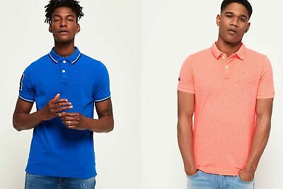 New Mens Superdry Polo Shirts Selection - Various Styles & Colours 060619