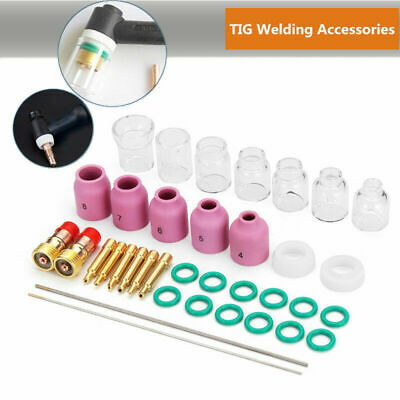 TIG welding kit Accessory Seal ring Clamp Ceramic cup Straight Glass Durable