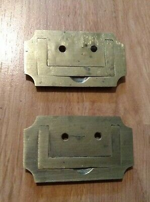 Antique Vintage Old Brass Writing Slope Box  Brass Handles Pair